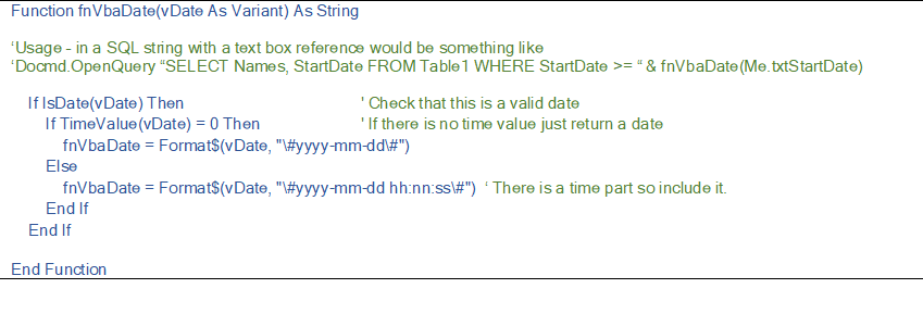 Date Formatting in Access 3